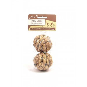 (Jolly Moggy) Catnip Rope Balls (Twin Pack)