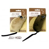 (Jolly Moggy) Large Catnip Play Mouse (Assorted Colours)