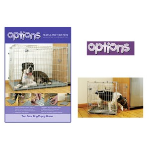 (Options) Fold Flat Wire Pet Carrier/Dog-Puppy Home (X Large)