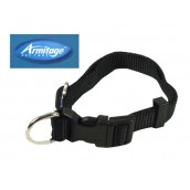 (Armitage Pet Care) Nylon Adjustable Collar 1 x 24inch Large (Black)