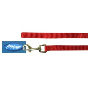 (Armitage Pet Care) Nylon Lead 0.5 x 40inch Small (Red)