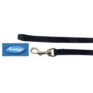 (Armitage Pet Care) Nylon Lead 0.5 x 40inch Small (Black)