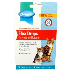 (Armitage Pet Care) Flea Drops For Cats &  Kittens