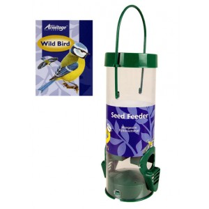 (Armitage Pet Care) Wild Bird Seed Feeder Plastic 16cm