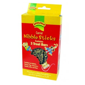 (ROTASTAK) Small Animal Treats Carrot Nibble Sticks 3 Bars