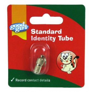 (good girl) Standard Cat Identity Tube (Gold)