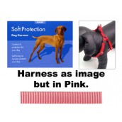 (Classic) Soft Protection Dog Harness (Medium) (Pink)