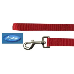(Armitage Pet Care) Nylon Lead 1 x 40inch Large (Red)