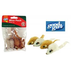 (good girl) Catnip Mice Pack Kitten Toy