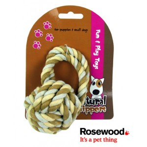 (Natural Nippers) Tuff Rope Ball