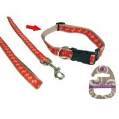 (Wag'n'Walk) Walk-Time Beige Bone Adjustable Dog Collar (Large)