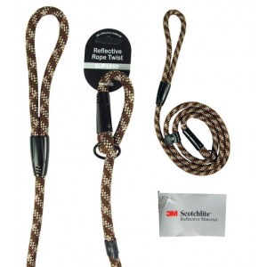 (3M) Scotchlite Reflective Rope Twist Slip Lead (Brown)