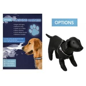 (OPTIONS) Flashing Dog Harness (Small)