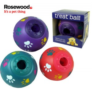 (Rosewood) Paw Print Treat Ball (Large) (Assorted Colours)