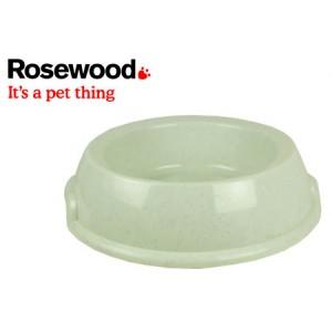 (Rosewood) Non Tip Plastic Feeding Bowl XLarge Beige