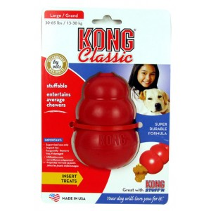 (KONG) Classic Dog Treat Toy Large