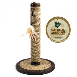 (Natural Bedding) Seagrass Feather Post