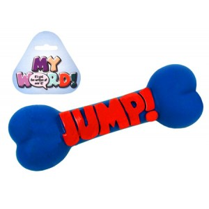 (Play-Time) My Word Vinyl Bone Dog Toy 9inch Jump