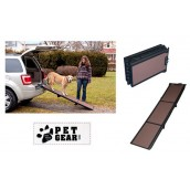 (Pet Gear) Travel Lite Tri-Fold Ramp (Black/Chocolate)