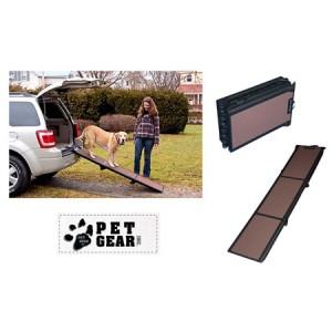 (Pet Gear) Travel Lite Tri-Fold Ramp (Black/Chocolate)