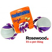 (twistable) tugz Twin Ball Tug 4inch Purple