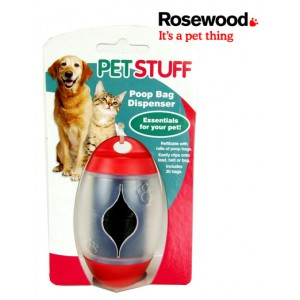 (Pet Stuff) Poop Bag Dispenser Red