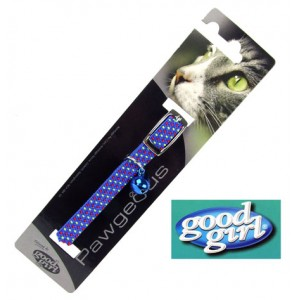 (good girl) Pawgeous Braided Cat Collar Blue
