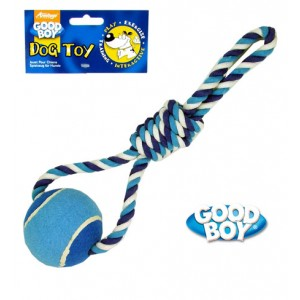 (Good Boy) Rope & Ball Dog Toy Large Blue