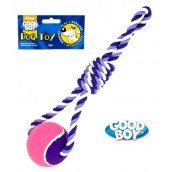 (Good Boy) Rope & Ball Dog Toy  Large Pink
