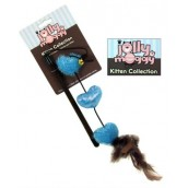 Jolly Moggy Kitten Collection Heart Cat Teaser Toy Blue