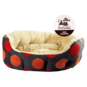 (40 Winks) Luxury Oval Sleeper  20inch  Spice Dotty