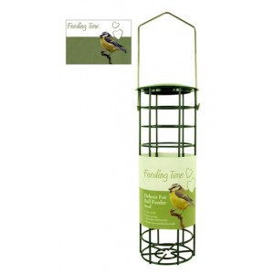 (Feeding Time) Wild Bird Deluxe Fat Ball Feeder Green Metallic Small