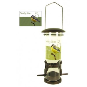 (Feeding Time) Wild Bird Deluxe Seed Feeder Bronze Small