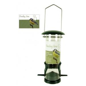 (Feeding Time) Wild Bird Deluxe Seed Feeder Green Metallic Small