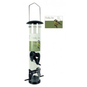 (Feeding Time) Wild Bird Deluxe Seed Feeder Black Metallic Large
