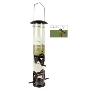 (Feeding Time) Wild Bird Deluxe Seed Feeder Bronze Large