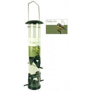 (Feeding Time) Wild Bird Deluxe Seed Feeder Green Metallic Large