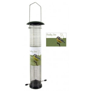(Feeding Time) Wild Bird Deluxe Nut Feeder Black Metallic Large