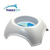 (happypet) Pet: Platter Feeding Bowl 800ml Pearl