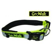 Go Walk Dog Collar Reflective Green Medium