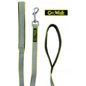 Go Walk Dog Lead Reflective Green