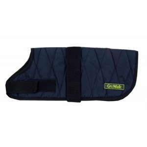 (Go:Walk) Quilted Dog Coat Navy X-Large
