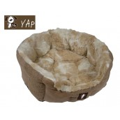 (YAP Dog) Delicato Giraffe Oval Dog Bed 22inch