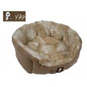 (YAP Dog) Delicato Giraffe Oval Dog Bed 34inch