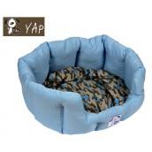 (YAP Dog) Oval Dog Bed 26inch Blue
