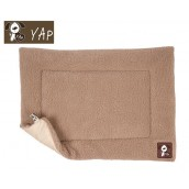 (YAP Dog) Cossii Lambs Wool Cage Mat 21 x 30inch Beige