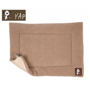 (YAP Dog) Cossii Lambs Wool Cage Mat 28 x 42inch Beige