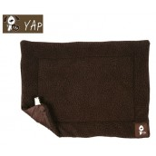 (YAP Dog) Roventa Lambs Wool Cage Mat 21 x 30inch Choc