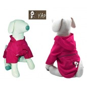 (YAP Dog) Pac-a-Yap Dog Coat Fuschia 6inch