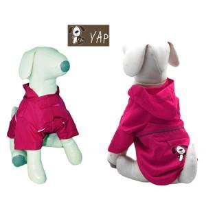 (YAP Dog) Pac-a-Yap Dog Coat Fuschia 14inch